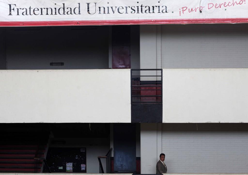 El oficialismo en la Facultad. Foto: Carlos Sebastián