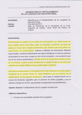 El intento del exmagistrado Barrientos por reformar los juzgados para las cárceles.