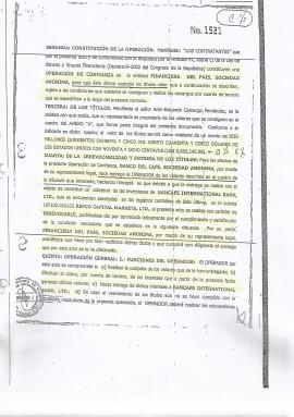Una de las pruebas presentadas por PWC contra Finrural.