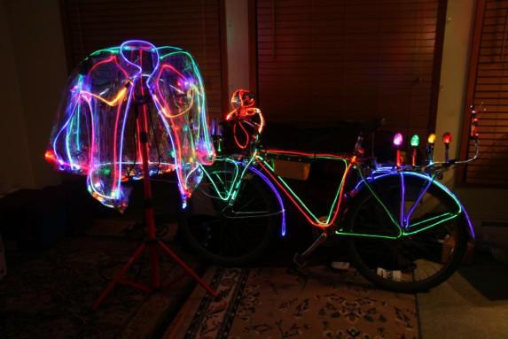 Una bici iluminada.