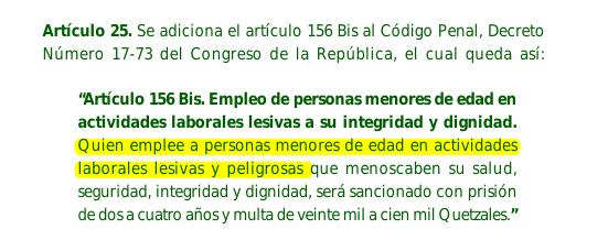 La reforma al Código Penal aprobada en 2009.