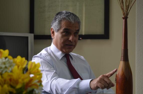 Carlos Contreras, ministro, durante la conversación con Nómada. Foto: Ministerio de Trabajo