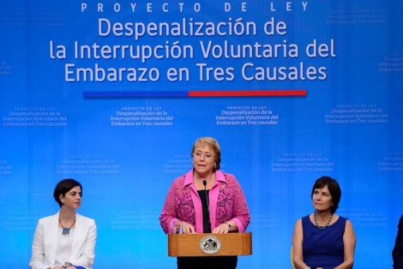 Bachelet, ayer en Chile. Foto: The Clinic