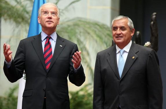 Biden y Pérez Molina.