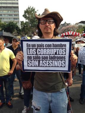 Uno de los manifestantes, el 25 de abril.