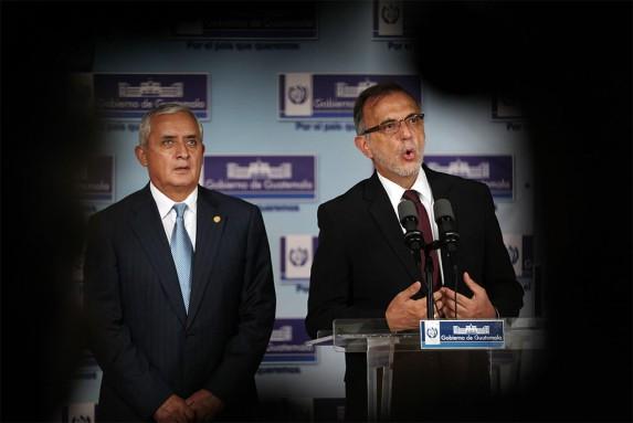 El presidente y el jefe de la CICIG