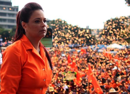 Roxana Baldetti, en su último acto como secretaria general de su partido.