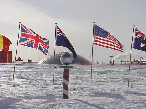 Fotografía del Polo Sur de Wikipedia