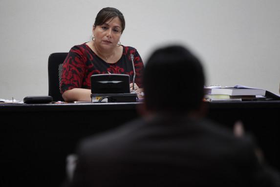 La jueza Silvia de León.