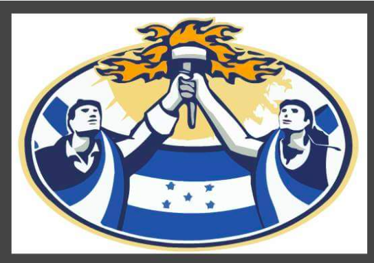 Como los dibujos del movimiento de Xela en Guate, en Honduras tenemos éste.