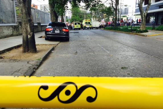 La escena del crimen. Foto: Soy502.com