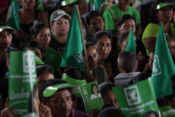 Sandra Torres candidata presidencial de la UNE en Coatepeque-21