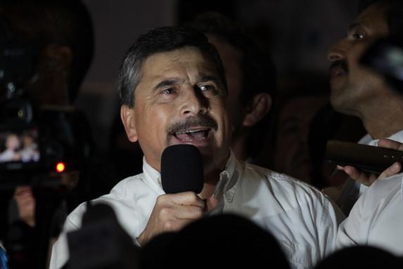 Barquín, compañero de fórmula de Baldizón, fue la estrella de la vigilia de Líder.
