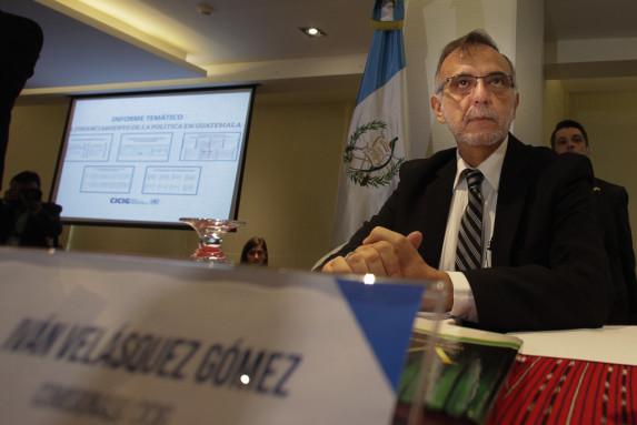 Ivan Velasquez jefe de la CICIG durante la presentacion del informe sobre financiamiento de los partidos politicos -11