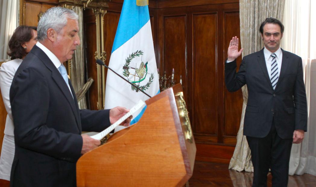 La juramentación de Valladares para el Pronacom. Foto: Presidencia