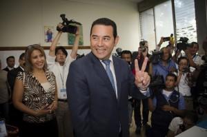 Jimmy, cuando fue a votar. Foto: Rocío Conde
