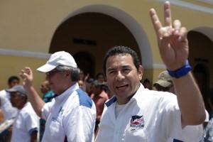 Jimmy Morales, en Patulul, en agosto.