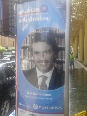 El anuncio de la conferencia de Aznar.