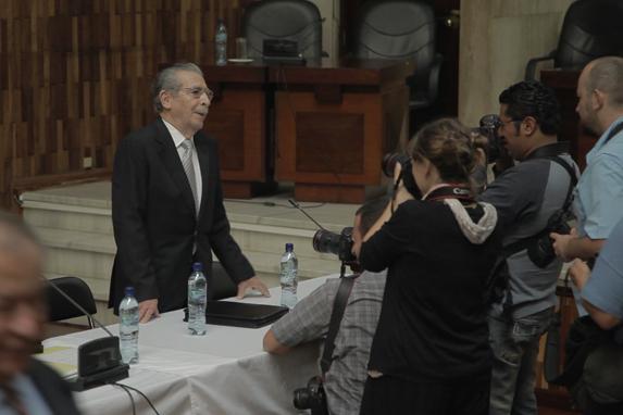 Efraín Ríos Montt, durante el juicio por genocidio.