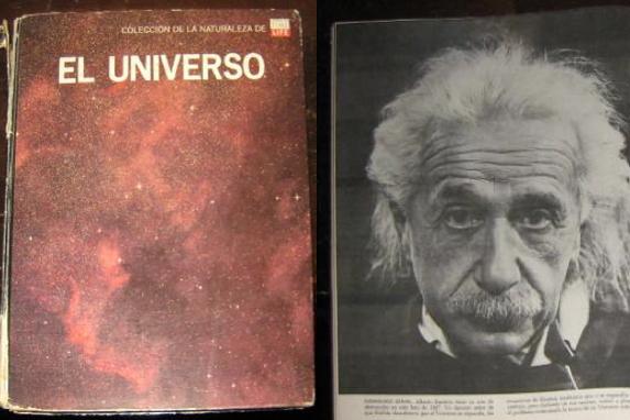 'El Universo', libro que me llevó -siendo niño- a la Relatividad de Einstein (Foto: Enrique Pazos).