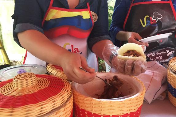 Un clásico de la comida venezolana: las arepas.