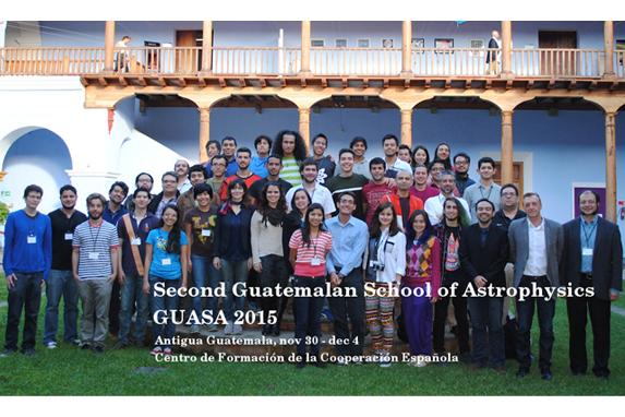Participantes de la segunda Escuela Guatemalteca de Astrofísica (Foto: GUASA).