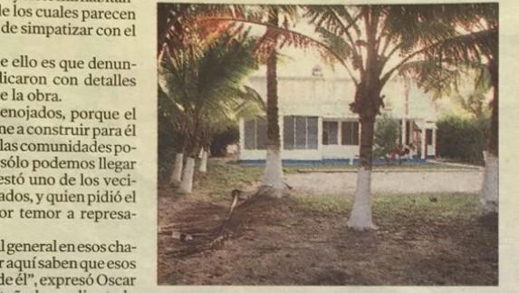El chalet en el Caribe.