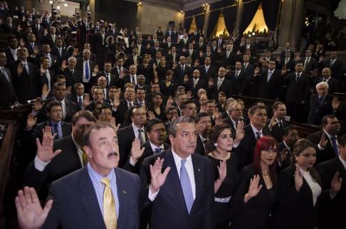 La juramentación de los diputados. Foto: Rocío Conde.