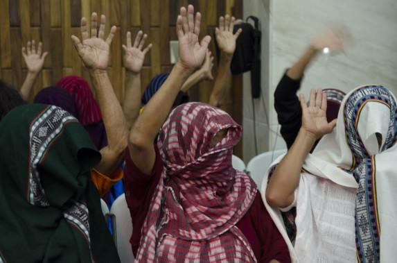 Las once sobrevivientes. Foto: Rocío Conde