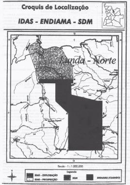 Mapa Lunda Norte. Foto: Agencia Pública.