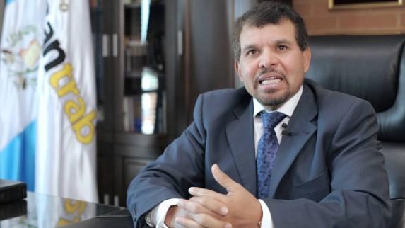 Sergio Hernández, el presidente del Bantrab hasta el 18 de marzo de 2016.