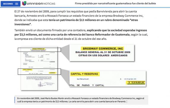 Univisión encontró que Chacón fue cliente del Bancor.