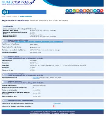 Consulta a Guatecompras.gt, 24 de mayo de 2016.