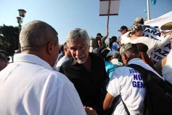 Ricardo Méndez Ruiz, en una manifestación a favor de la amnistía para militares, en enero de 2016.