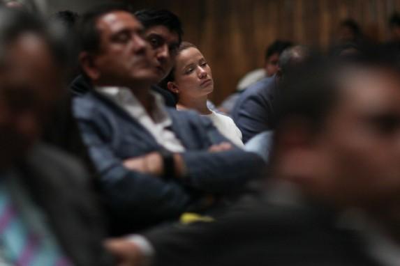 Daniela Beltranena, en la audiencia.