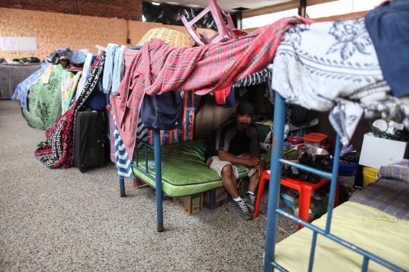 El albergue de las últimas 20 familias de El Cambray.