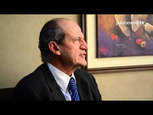 Flavio Montenegro, en el 2014, en una entrevista con Publinews.