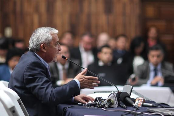 Otto Pérez Molina declara ante el juez.