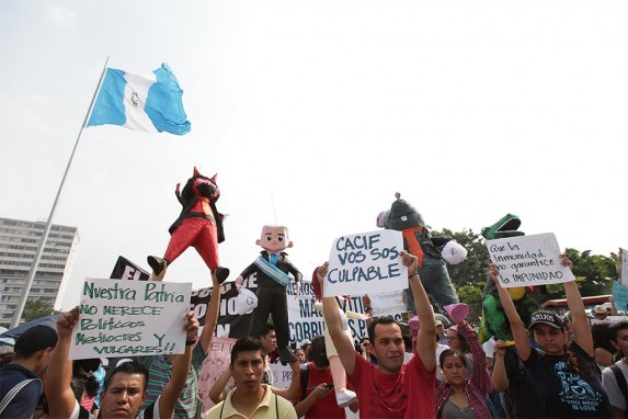 En 2015 hubo críticas directas al CACIF en las manifestaciones.