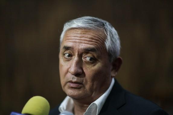 El expresidente Pérez Molina.