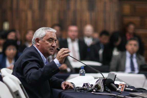 Pérez Molina, ante el juez Gálvez, en 2016.