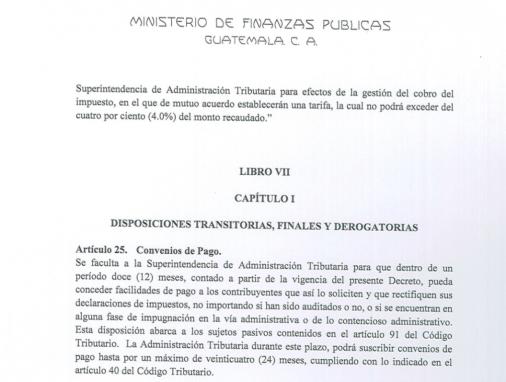 Amnistia Fiscal 2016