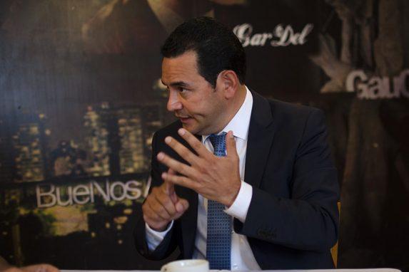 Jimmy Morales, durante una entrevista en Fulanos y Menganos en 2015.