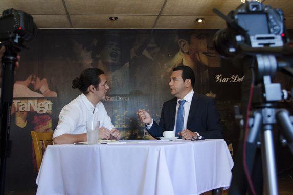Jimmy, en la entrevista con Nómada en Fulanos y Menganos.
