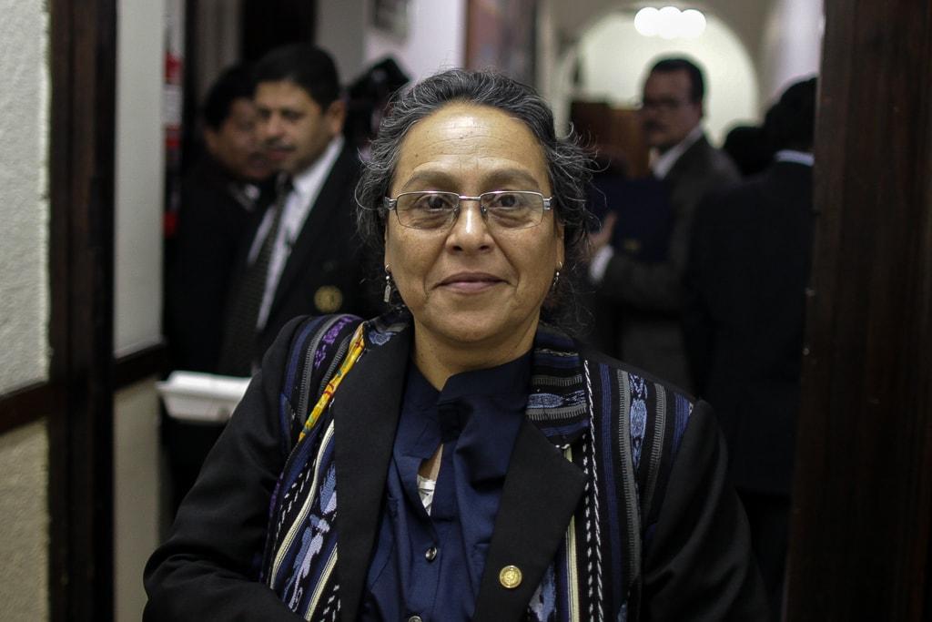 Sandra Morán, a la salida del hemiciclo en el Congreso.