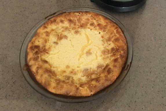 Pie de queso cocinado por mis hijas :)