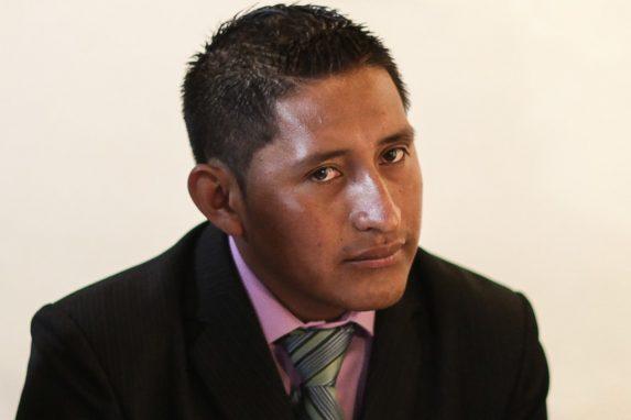 Oswaldo Ical es originario de Chicamán. fue retenido por Diego y Antonio Itzep en Uspantán. Foto: Carlos Sebastián.