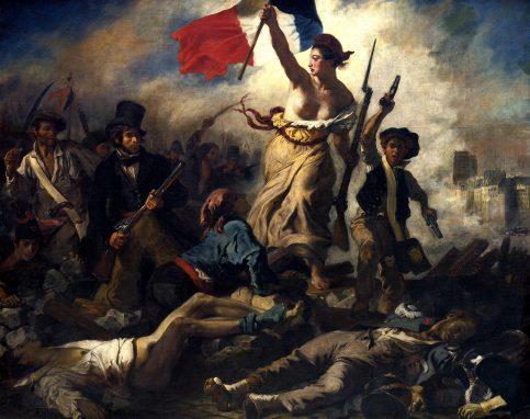 """""""La Libertad Guiando al Pueblo"""". Eugene Delacroix. 1830."""