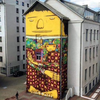 """""""El Gigante de Minsk"""" Os Gemeos. 2015"""