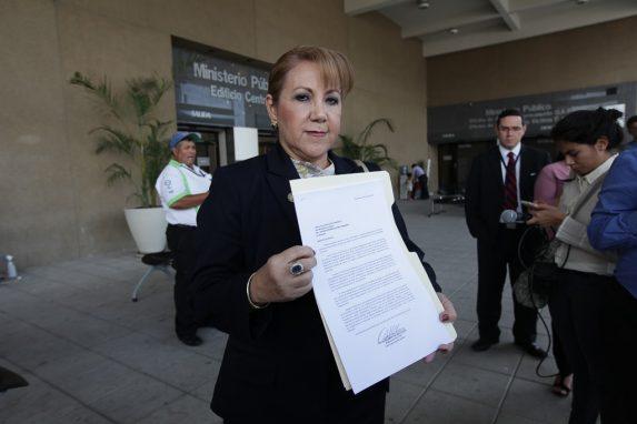 Blanca Stalling, mientras defendía su elección en 2014.